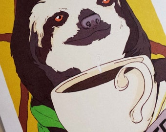 Slothee coffee Sloth Card