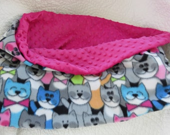 Minky Dog Cat Slouch Bed Three in One