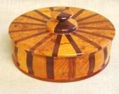 Folk Art Box , Round Wooden Box , Round Folk Art Box , Desk Box , Dresser Box ,Handmade , Wooden Boxes , Wooden Box , Storage ,Organization