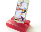 Garnet Groove Resin iPhone Stand, Cell Phone Stand-Limited Edition, Great January Birthday or Valentine's Gift