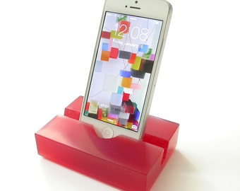 Pomegranate Colored Groove Resin iPhone Stand, ON SALE