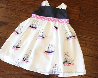 Girl's Cotton Tunic Dress, Sarah Jane My Favorite Ship Dress