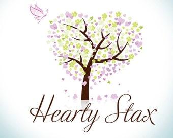 hearts logo design, butterfly logo design, watermark, photography logo design, tree logo design