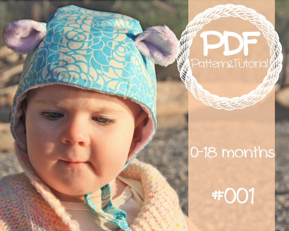 Brimless Baby Bonnet Sewing Pattern Vintage Inspired Bonnet