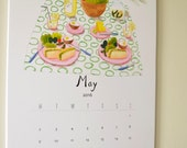 SALE* 2016 Wall Calendar - food and drinks