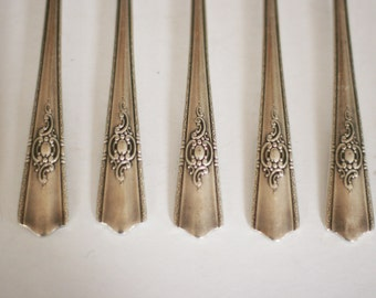 vintage silver plate forks by harmony house set of eight