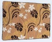 Dog Blanket Tahitian Gardenia medium Barking Dog Blanket