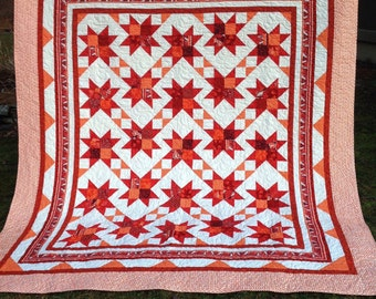 Queen quilt Garden Gate pattern