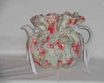 Pretty Floral Print  Reversible 6 Cup Teapot Cozy