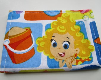 Bubble Guppies Fabric Wallet, Credit Card Wallet, Molly, Noony, Goby, Oona, Gil, Deema, Gift Card Wallet, Small Wallet,  Business Card
