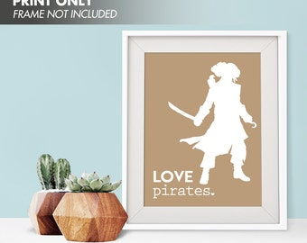 LOVE PIRATES - Art Print (Featured in Iced Coffee) Love Nautical Art Print and Poster Collection