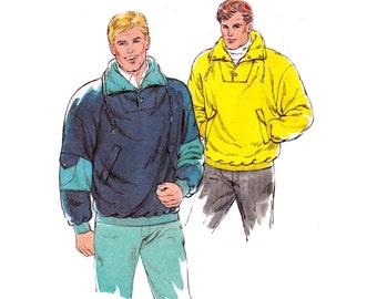 80s Mens Sweatshirts Pattern Kwik Sew 1726 Vintage Sewing Pattern Stretch Pullover Jackets Sizes S - XL UNCUT Factory Folded
