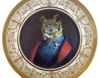 """Captain Strigiformes Portrait - Altered Antique Plate 11"""""""
