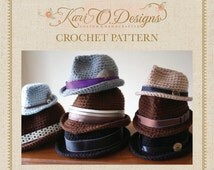 PDF Crochet Pattern Classic Fedora