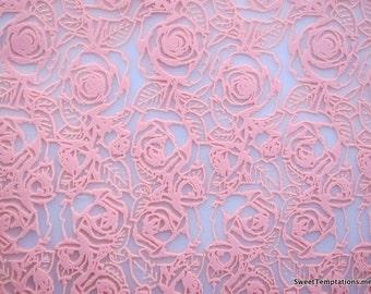 Pink Roses Chocolate Transfer Sheet