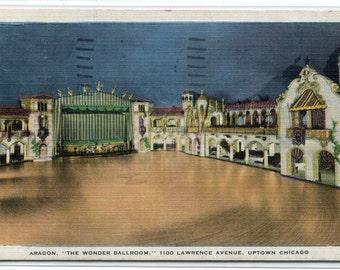 Aragon Ballroom Interior Chicago Illinois 1934 postcard