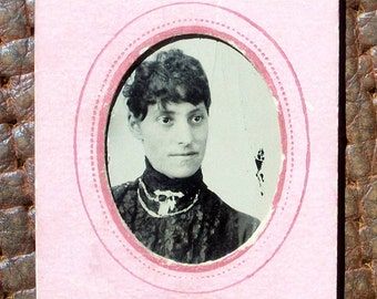 Tintype - Lady Framed in Pink