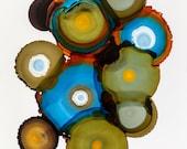 Art Print of Contemporary Circles, Modern Art Print, Wall Art, Colorful Geometric Art