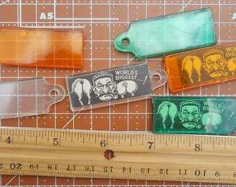 Vintage Plastic Luggage Tags ID Tags Set of 6
