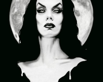 Vampira pin up archival print