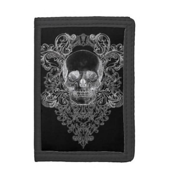 Baroque Skull crest wallet
