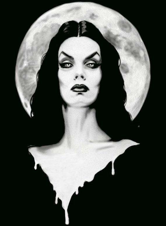 Vampira pin up archival print