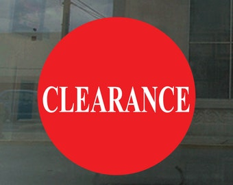 Red Circle clearance sign  - vinyl sticker decal