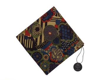 Pomp & Ceremony Pocket Square handkerchief Liberty of London World's Collide