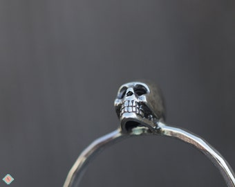 Silver Skull Ring, Silver Ring, Sterling Silver Jewelry