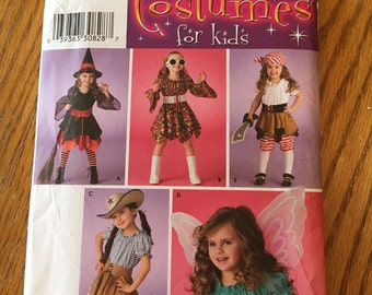 Simplicity costume pattern 3680. Size A. Kids sizes 3 to 8. New.
