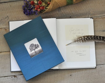 Funeral Keepsake Book - Post-Bound Funeral Book with Message Cards