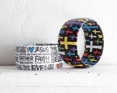 Christian Bracelet - Religious Jewelry - Cross Bracelet - Spiritual Jewelry - Christian Jewelry - Religious Bangle -  Religious Word Jewelry