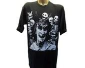 Mens Devil T-shirt Vintage Archaic Smile Beelezebub Short Sleeve Gothic Tee Mns Size Large, 90s Vintage T-shirt, SatanT-shirt, Rock Tee