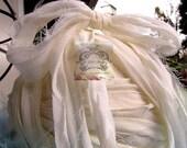 White Silk Chiffon Recycled Ribbon