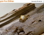 On Sale Wire Wrapped Brass Tan Banded Agate Ring size 7