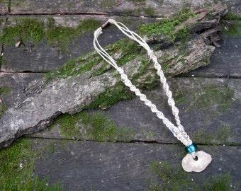 Mindfulness Jewelry - Natural Stone Macrame Necklace - Free Shipping