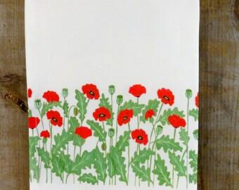 Red Poppy Tea Towel-Best Seller**