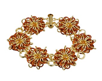 Kit - Flares Chainmaille Bracelet Kit - Goldilocks
