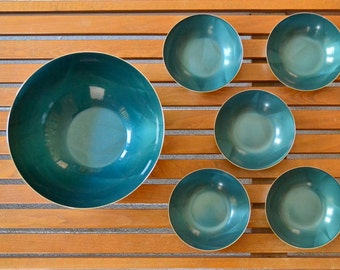 vintage cathrineholm fjaer cathedral series bowls - grete prytz kittelsen