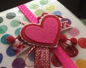 Heart Valentine's Day Planner Band for Eric Condren, Plum Paper, etc.