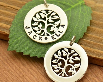 Tree of Life Stamping Blank Pendant - A1754. Family, Ancestry, Children, God's Love