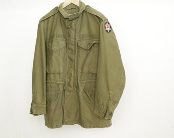 MILITARY 60s 70s solid color ARMY green VIETNAM jacket coat
