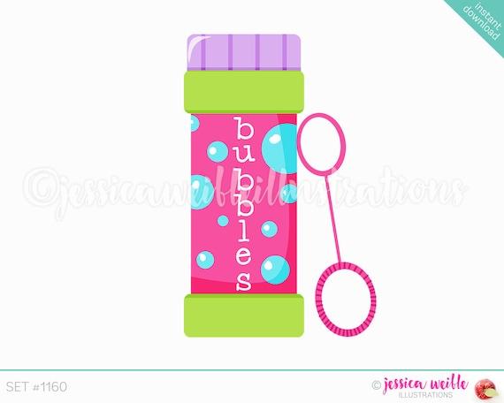 Instant Download Bottle of Bubbles Cute Digital Clipart Cute