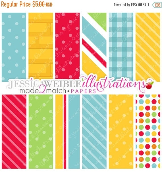 ON SALE Wizard of Oz Cute Digital Papers - Commercial Use Ok - Yellow Brick Road Paper - Made 2 Match Wizard of Oz Backgrounds