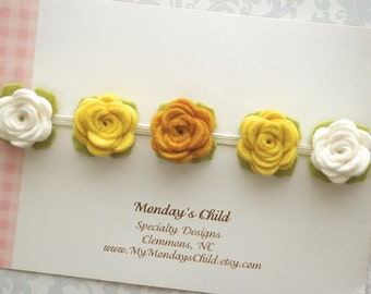 Felt Flower Crown, Baby Flower Crown, Fall Baby Headband, Felt Flower Headband, Flower Crown, Baby Headband, Newborn Headband, Toddler