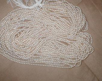 Huge lot Vintage IVORY 3mm Pearl Beads