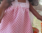 Pink doll nightgown for American Girl or 18 inch doll