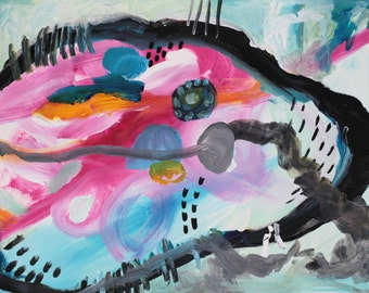 abstract painting / original painting / painting on paper