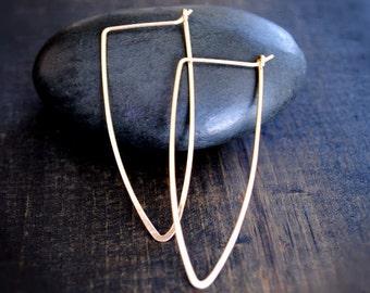 Women's Gold Hoop Earrings - Dagger
