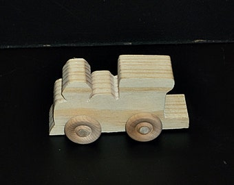Birthday Party Pack 10 Wood Toy Train Engines BP-1-169AAH-U unfinished or finished